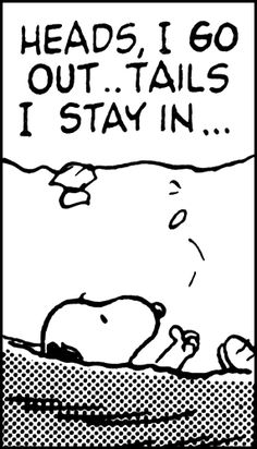 papelcomtinta:   pmpinto (from an image by charles m. schulz) wednesdayNightDilemma