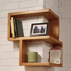 15 Eye-Catching Geometric Shelves | WoodworkerZ.com
