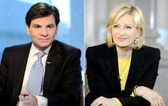 George Stephanopoulos and Diane Sawyer