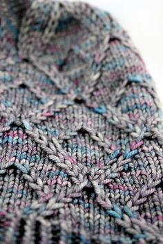 FallingStitches' version of Gespeg knit hat pattern by Ariane Caron-Lacosten on Ravelry. Yarn in Madeline Tosh Vintage in the color Steam Age.