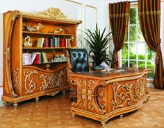 French empire furniture, French empire furniture direct from Bisini Furniture And Decoration Co. in China (Mainland) Empire Furniture, Buy Desk, Luxury Home Furniture, Furniture Direct, House Rooms, Room Set, Office Desk, Bookcase, House Design