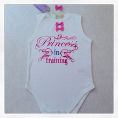 Body suit PRINCESS IN TRAINING on Etsy, 13,00€