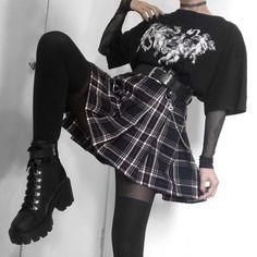 Banned Skinny Jeans Karo Hose Lila Schwarz Kariert Used Look Punk Rock Gr 40