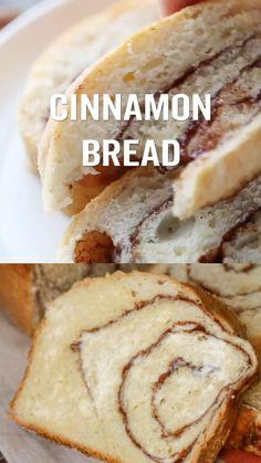 Bread Recipes, Crockpot Recipes, Healthy Recipes, Cinnamon Bread, Bread Board, Sweet Bread, Food Videos, Breakfast Recipes, Tasty