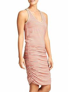 Stripe Tee Racerback Dress - The soft racerback tee dress with built-in support and shirred sides that hug you in the best way possible.