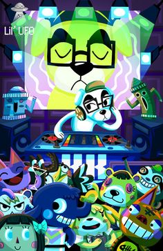 Hey, I found this really awesome Etsy listing at https://www.etsy.com/listing/159832905/dj-kk-animal-crossing-poster