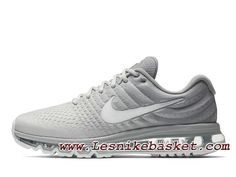 best website 25cde 2619a Nike Air Max 2017 Matte Silver 849559 005 Chaussures Nike Pas cher Pour  Homme Silver White Shoes