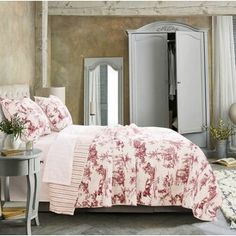 August Grove Spiritwood Lake Comforter Set | Birch Lane French Country Bedding, French Country Bedrooms, French Country Style, French Country Decorating, Country Charm, Country Bedding Sets, Rustic Bedding, Country Curtains, King Quilt Sets