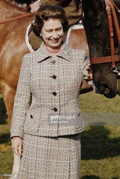 Queen Elizabeth II at a Windsor Horse Show, circa 1975.