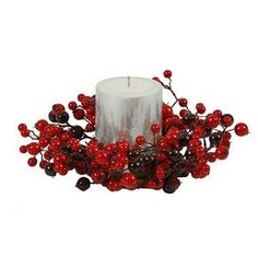 10 Inch Red/Burgundy Mixed Berry Candle Ring featuring beautiful and realistic looking indoor/outdoor berries. This item comes with a Seasonal Warranty for your confidence and convenience. Christmas Candle Rings, Hydrangea Arrangements, Rose Centerpieces, Thing 1, Mixed Berries, Faux Flowers, Christmas Decorations, Christmas Trees, Xmas