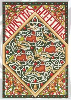 Celtic Christmas, Tartan Christmas, Christmas Tree, Christmas Greetings, Pagan, Bohemian Rug, Kids Rugs, Holiday Decor, Home Decor