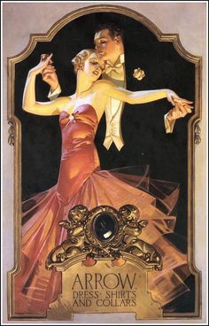 Иллюстратор моды Джозеф Кристиан Лейендекер. Рекламный плакат для Arrow Collar 1920-е