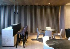 Sala lounge bar madera architecture interior design