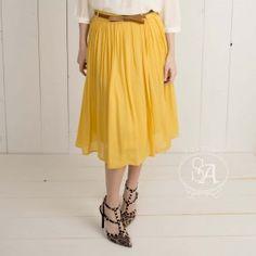 Hold Your Breath Pleated Midi Skirt