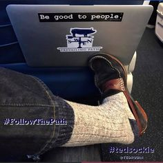 Off to Bentonville, via Atlanta to connect with John Andrews... comfy #tedsockie time   Make it a smooth ride Delta ✈️  #FollowThePath #RonR... #NoLetUp! — feeling motivated.
