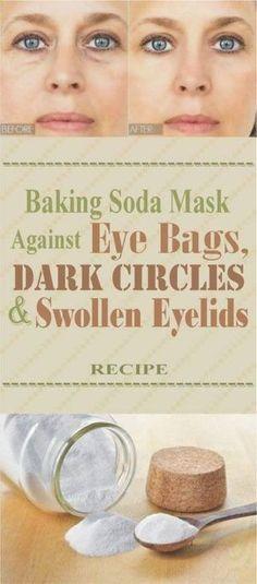 Baking Soda Mask Against Eye Bags, Dark Circles and Swollen Eyelids – Recipe - Healthy Tips World Health Tips For Women, Health And Beauty Tips, Healthy Beauty, Healthy Tips, Stay Healthy, Healthy Food, Skin Tips, Skin Care Tips, Swollen Eyelid