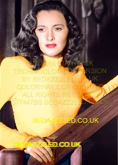 BARBARA STANWYCK TECHNICOLOR CONVERSION BY BEDAZZZLED COLORWAY COPYRIGHTED FROM B/W PRINT