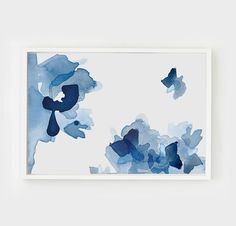 Sunshine and Evo, Perspective 4 - a large abstract art print with layered fluid blues on acid free, matte canvas. Im all about options. Choose