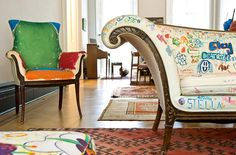 kid's graffiti furniture  |  kiki's list   Look familiar mom?