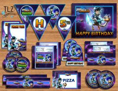 Miles From Tomorrowland Birthday Package - Printable Digital Instant Download Files