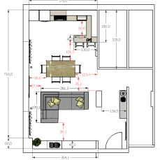 Discover recipes, home ideas, style inspiration and other ideas to try. Kitchen Layout Plans, Kitchen Floor Plans, Open Plan Kitchen, House Floor Plans, Small Appartment, Apartment Floor Plans, Open Space Living, Love Home, Living Room Inspiration