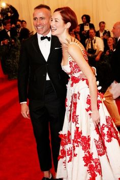 Met Gala 2013 - Taylor Tomasi Hill and Thom Browne.