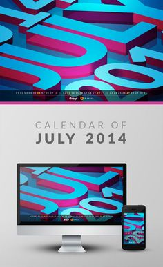 Free Wallpaper Calendar of July 2014