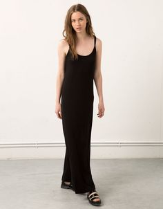 Bershka open back long strappy dress - Dresses and jumpsuits - Bershka Egypt