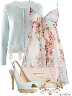 """""""A Perfect Floral Dress"""" by stylesbyjoey on Polyvore"""
