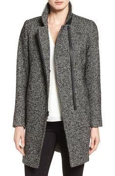 Trina Turk 'Adela' Asymmetrical Zip Notch Collar Coat