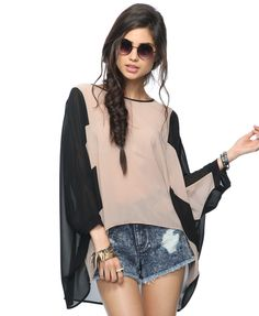 this shirt looks like a horrible and a great idea. sheer poncho?