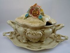 Vintage french Soup Tureen with Platter