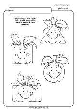 Tekvice - geometrické tvary Worksheets For Kids, Printable Worksheets, Autumn Activities, Math Activities, School Projects, Kindergarten, Preschool, Snoopy, Halloween