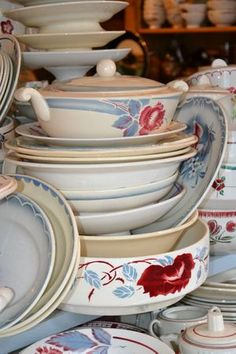 Old French Digoin Tableware