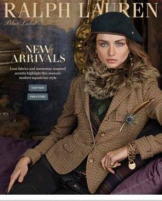 """ralphlauren: """" """" RL Style Guide New Feminine """" In a season dominated by menswear-inspired silhouettes, it takes sparkle and shine to stand out from all the suits Explore Now """" Preppy Mode, Preppy Style, My Style, Ralph Lauren Womens Clothing, Winter Outfits, Kids Outfits, Tartan, Ralph Lauren Style, Winter Stil"""
