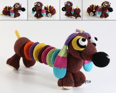 Crochet baby toy Baby educational toys Dachshunds crochet dachshund, Hand crocheted toy Doxie on Etsy, $65.00