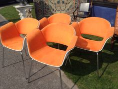 Retro chairs at Newark antique fair 2015.