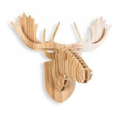Safari Life Safari Trophée Tête d'Animal en Bois - Moose - Safari Life au Cult Furniture Royaume Uni
