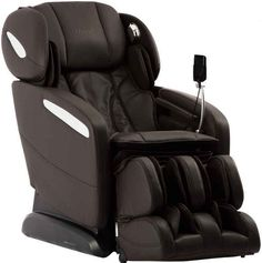 Osaki Maxim Zero Gravity Massage Chair Recliner in Brown  sc 1 st  Pinterest & Caesar black winged leather recliner chair rocking massage swivel ... islam-shia.org