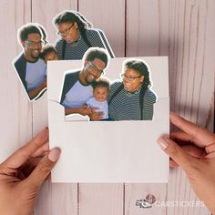Order photo stickers of the whole family today to send around to your loved ones - so fun!