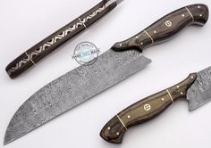 """12.5"""" Custom Manufactured Beautiful Damascus Steel chef/Hunting Knife (825-5) #KnifeArtist"""