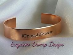 Personalized Bracelet  Hand Stamped by ExquisiteStampDesign FLASH SALE TIL MIDNIGHT 4/26 ... 10% off your purchase use code PINTEREST in my etsy store!