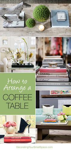 How To Arrange A Coffee Table – 4 Steps