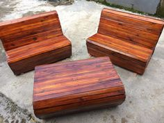 Coffee Table Set from ex-pallette