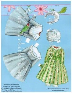 Original Paper Doll Hitty doublesided doll and by TheArchivalCat