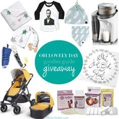 You've got 4 hours left to enter to win everything you see here! Such great prizes from UPPAbaby (a new 2015 Vista stroller!), aden + anais, Baby Brezza Formula Pro (it's like a keurig for bottles), Ryan & Rose, Vonbon, Wee Rascals, Nursing Must-haves from Belly to Breast: Fairhaven Health, and a swaddle scarf from Coveted Things! Tag your expecting friends, new parents, or anyone adding a little one to their family! (click thru to get to giveaway)
