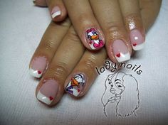 Donald Duck and Daisy - Nail Art Gallery by NAILS Magazine