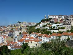 Lisbon Portugal from Castle Saint Georges Europe Travel Tips, Us Travel, Top Site, Lisbon Portugal, Day Trips, Night Life, Castle, Mansions, House Styles
