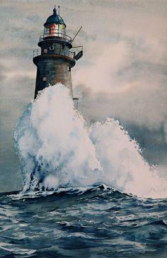 "Thomas Needham -  ""Lovers Light"" - Minots Ledge Light, Massachusetts"