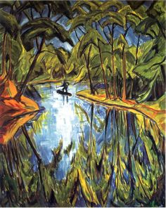"""Parksee"" by Erich Heckel, 1914"